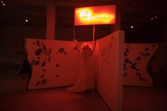 come and have a chicky meal by Julia Mandle performance artist