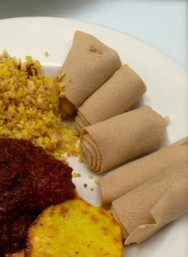 Doro watt and bulgar and injera