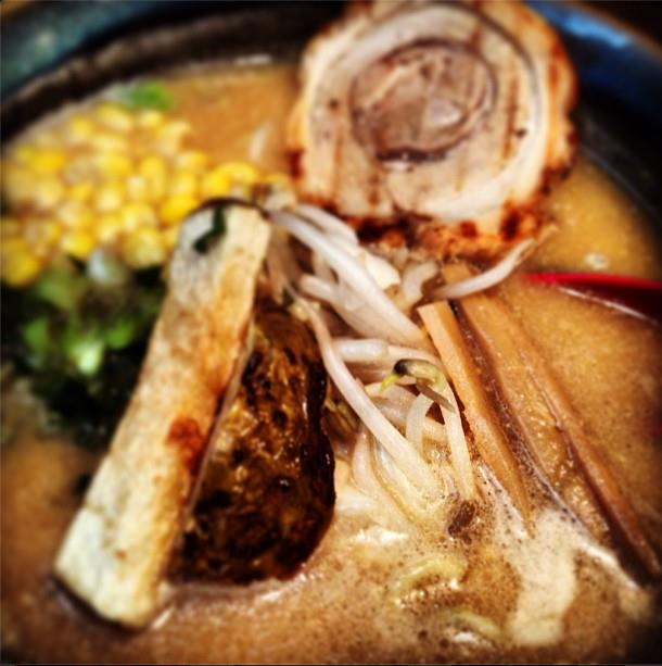 Misoya ramen mealscape blog goodness - with potatoes inside!