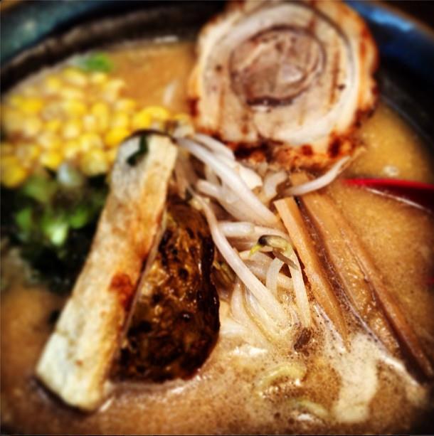 Misoya ramen mealscape blog goodness - with potatoes inside!