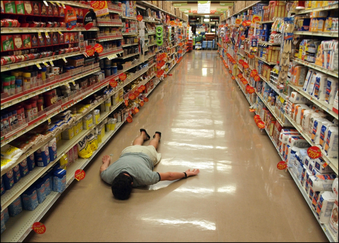 Thank you for shopping face down